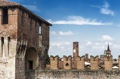 Una vista dal castello Fotografia Stock