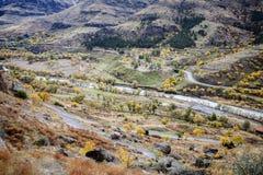 Una vista dal monastero della città della caverna di Vardzia Immagini Stock Libere da Diritti