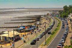 Una vista dall'boulevered dalla spiaggia Immagini Stock Libere da Diritti