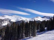 Una vista dalla cima di una montagna in Colorado Immagine Stock Libera da Diritti