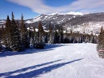 Una vista dalla cima di una montagna vicino ad Avon Colorado Fotografia Stock