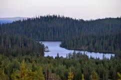 Una vista dalla collina Fotografia Stock