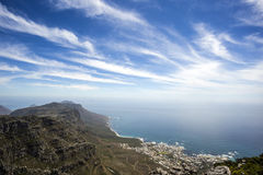 Una vista dalla montagna della Tabella, Cape Town Fotografia Stock Libera da Diritti