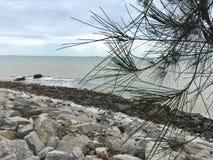 Una vista dalla spiaggia Immagini Stock Libere da Diritti