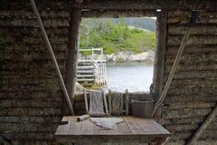 Una vista dalla vecchia fase di pesca Fotografia Stock Libera da Diritti