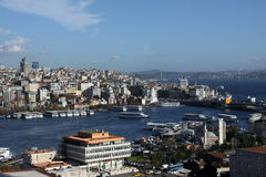 Una vista de Estambul. Imagen de archivo libre de regalías