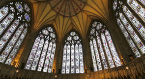 Una vista de la casa del capítulo de la iglesia de monasterio de York Fotos de archivo libres de regalías
