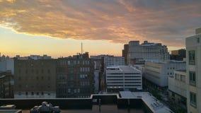 Una vista de la ciudad foto de archivo