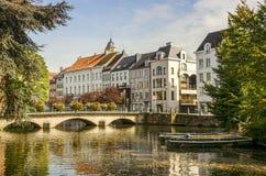 Una vista de la ciudad belga, Lier Foto de archivo libre de regalías