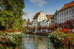 Una vista de la ciudad belga, Lier Imagen de archivo libre de regalías