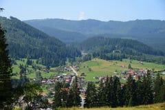 Una vista de la ciudad de Borsec Foto de archivo libre de regalías