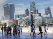 Una vista de la ciudad de Londres imagenes de archivo