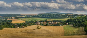 Una vista de la ciudad del san Gil en Francia fotos de archivo libres de regalías
