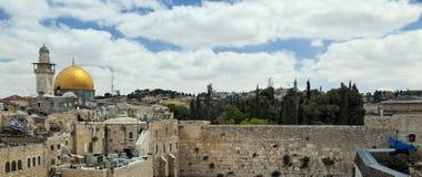 Opinión de Jerusalén la Explanada de las Mezquitas Imagen de archivo libre de regalías
