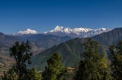 Una vista de la gama Himalayan Imágenes de archivo libres de regalías