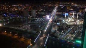 Una vista de la mezquita de Akhmad Kadyrov, la ciudad de Grozny, la capital de la república chechena del ruso metrajes