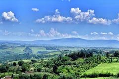 Una vista de la naturaleza del verde de Toscana imagen de archivo libre de regalías