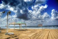 Una vista de la playa Foto de archivo libre de regalías
