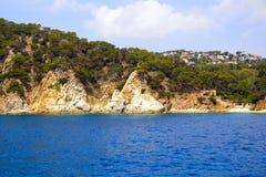 Una vista de la playa de la nave Foto de archivo