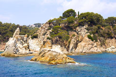 Una vista de la playa de la nave Fotos de archivo