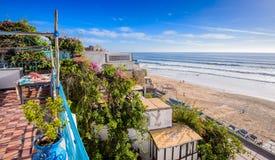 Una vista de la playa en el taghazoute, Marruecos 5 Imagen de archivo