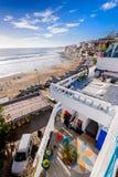 Una vista de la playa en el taghazoute, Marruecos 6 Fotografía de archivo libre de regalías