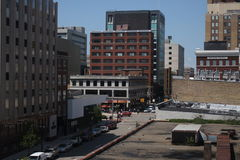 Una vista de Lansing céntrica Fotografía de archivo