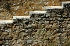 Una vista de las escaleras de piedra Imagen de archivo