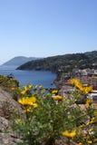 Una vista de Lipari Fotos de archivo