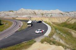 Una vista de los Badlands en Dakota del Sur Imágenes de archivo libres de regalías