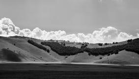 Una vista de los campos de Italia fotografía de archivo libre de regalías