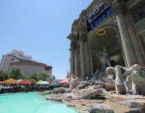 Una vista de los departamentos del foro del Caesars Palace Fotografía de archivo libre de regalías