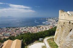 Una vista de Nápoles fotos de archivo