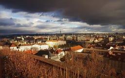 Una vista de Praga Foto de archivo libre de regalías