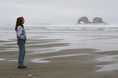 Una vista de rocas gemelas Imagen de archivo libre de regalías