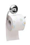 Una vista de un rodillo del papel higiénico Foto de archivo libre de regalías