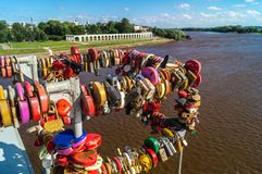 Una vista de Veliky Novgorod, Rusia Fotos de archivo