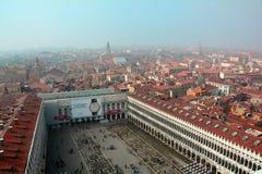 Una vista de Venecia desde arriba Foto de archivo libre de regalías