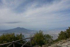 Una vista de Vesuvio Fotos de archivo