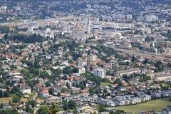 Una vista de Villach de la montaña de Dobratsch, Austri Fotografía de archivo libre de regalías