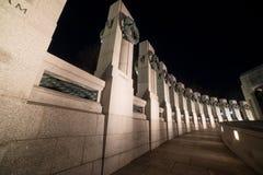 Una vista degli stati al memoriale di WWII Fotografia Stock