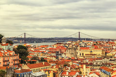 Una vista del Alfama céntrico, Lisboa, Portugal Fotografía de archivo
