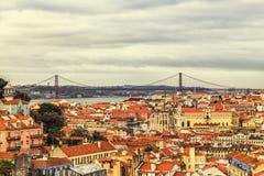 Una vista del Alfama del centro, Lisbona, Portogallo Fotografia Stock