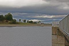 Una vista del bacino idrico Fotografie Stock