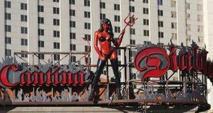 Una vista del Cantina Diablo Bar en la tira de Las Vegas Imagen de archivo libre de regalías