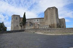 Una vista del castello di Melfi in Basilicata Immagine Stock