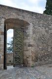 Una vista del castello di Melfi in Basilicata Fotografia Stock