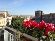 Una vista del castillo viejo fotos de archivo libres de regalías