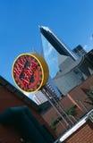 Una vista del centro urbano a Johannesburg, Sudafrica immagini stock libere da diritti