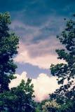 Una vista del cielo imagen de archivo
